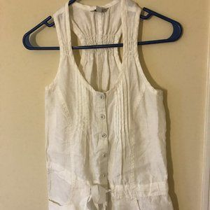 Guess Racer back white romper Size S